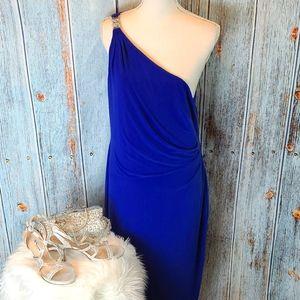 RALPH LAUREN DEEP BLUE EVENING DRESS